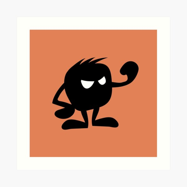 BadaBada - A is for Angry Art Print