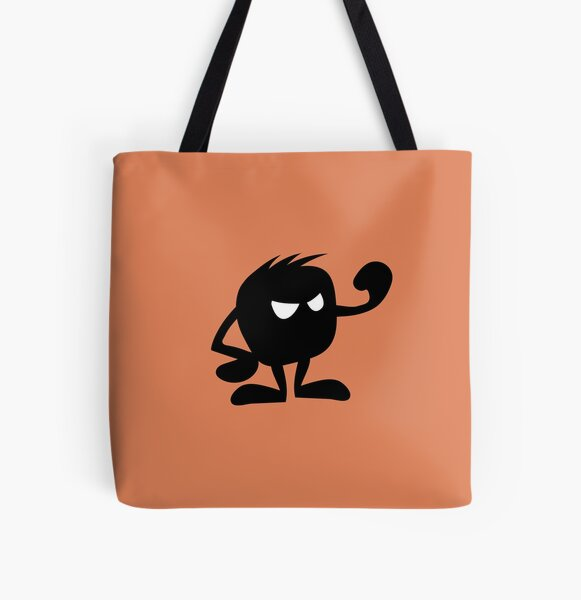 BadaBada - A is for Angry All Over Print Tote Bag