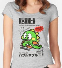 Bubble Bobble (Japanese Art) Women's Fitted Scoop T-Shirt