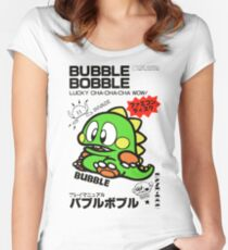 Bubble Bobble (Japanese Art) Women's Fitted Scoop T-Shirt