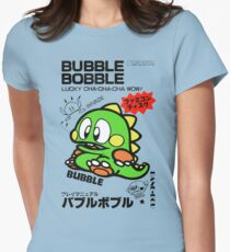 Bubble Bobble (Japanese Art) Womens Fitted T-Shirt