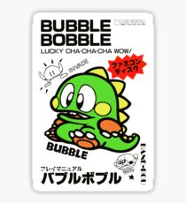Bubble Bobble (Japanese Art) Sticker