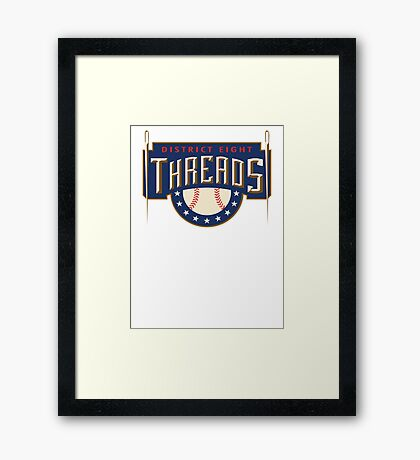 District 8 Threads Framed Print