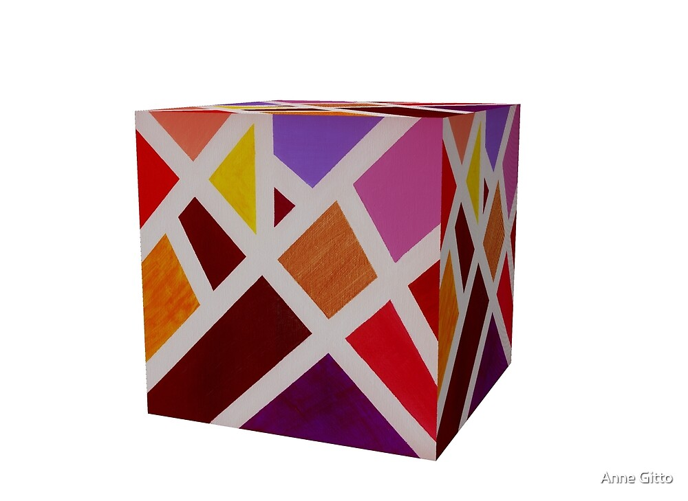 A Cube of Piet's Abstract by Anne Gitto
