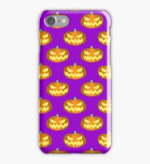 Spooky Jack o' Lantern Pattern iPhone Case/Skin