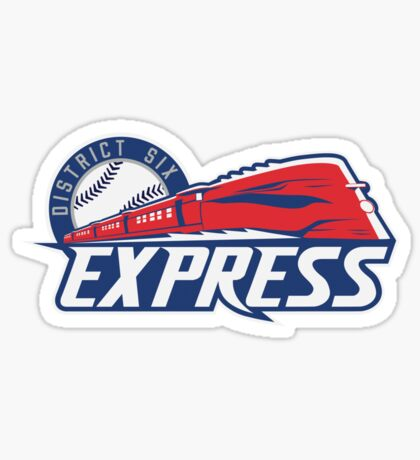 District 6 Express Sticker