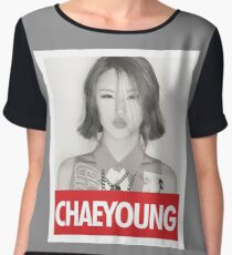 TWICE - chaeyoung Women's Chiffon Top