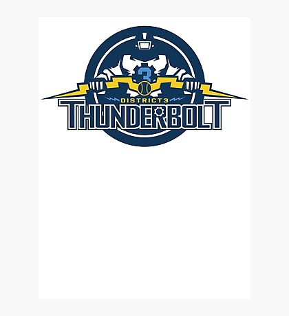 District 3 Thunderbolt Photographic Print