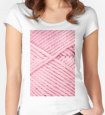Pink Yarn Women's Fitted Scoop T-Shirt