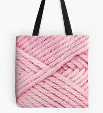 Pink Yarn Tote Bag