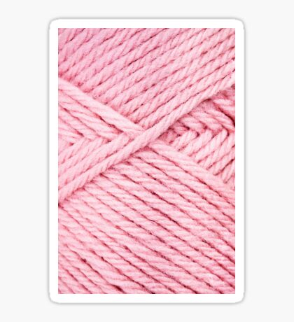 Pink Yarn Sticker