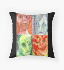 All the Emotions Throw Pillow