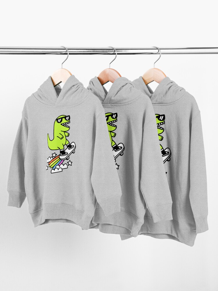 Alternate view of Rad Rex Toddler Pullover Hoodie