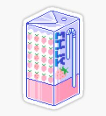 Strawberry Milk Sticker
