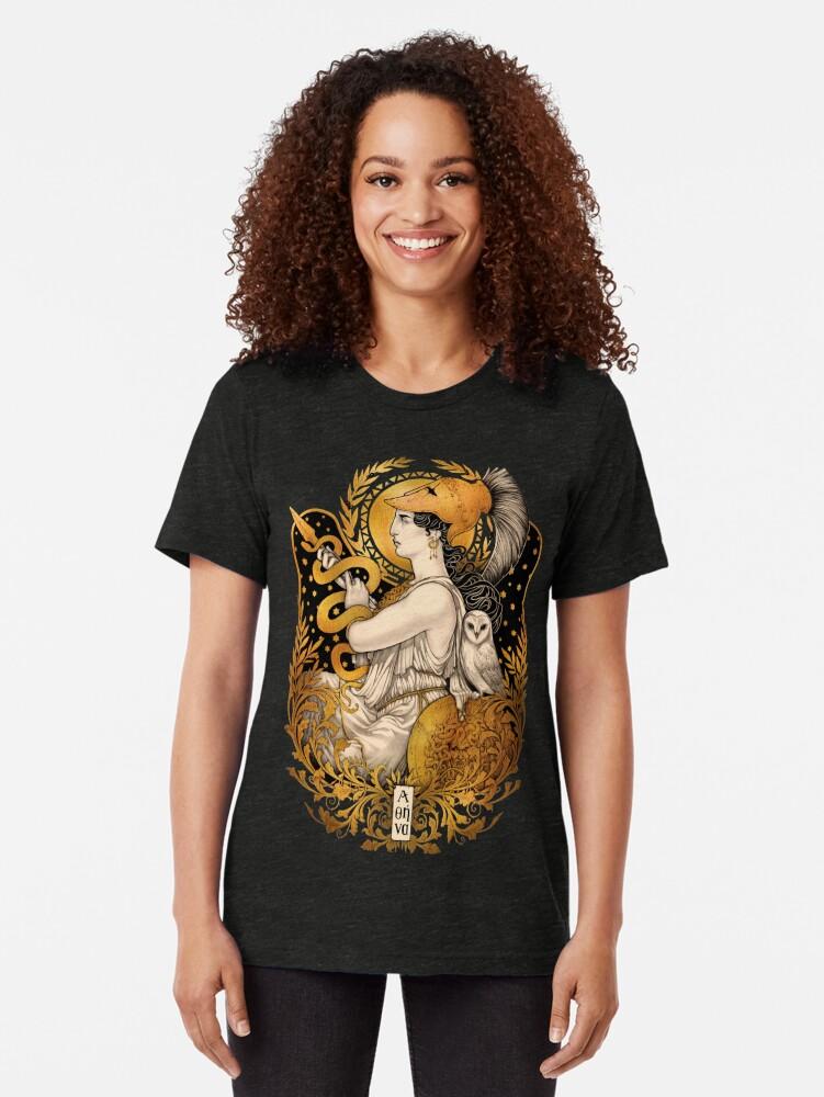 Alternate view of PALLAS ATHENA Tri-blend T-Shirt