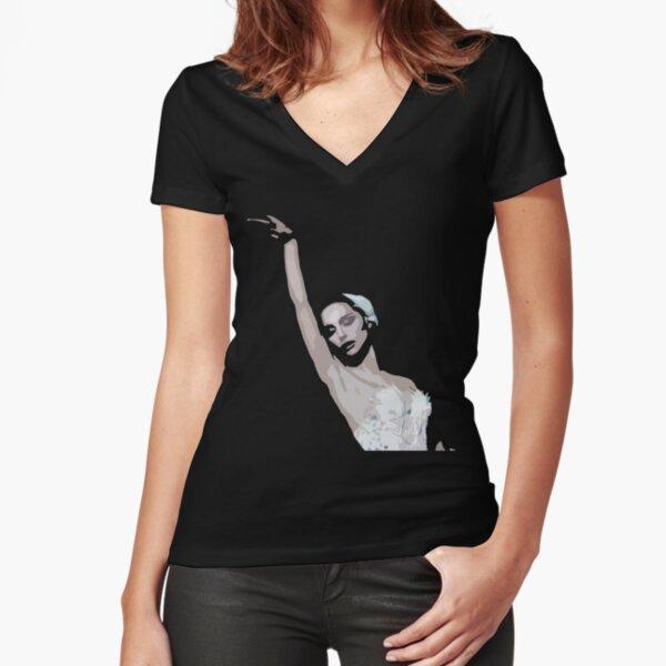 NINA Fitted V-Neck T-Shirt