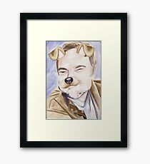 Mark Sheppard, watercolor painting Framed Print
