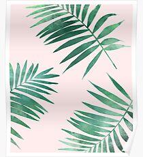 Tropischer Blattmusterdruck Poster