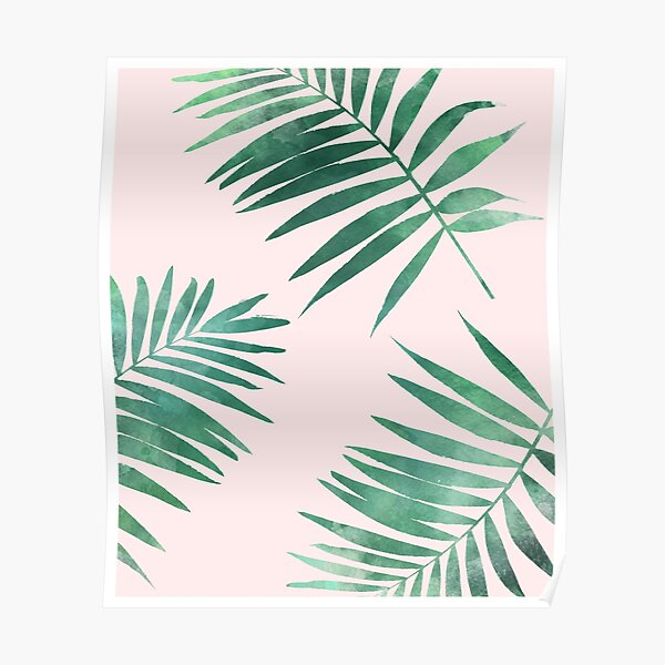 Tropical leaves pattern print Poster