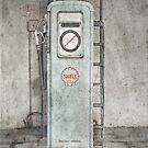 Vintage Gas Stop by DavidWHughes