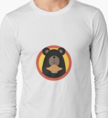 Grizzly with cake in circle Long Sleeve T-Shirt