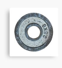 Barbell Weight Canvas Print