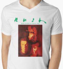 Rush New World Tour 1982 Men's V-Neck T-Shirt