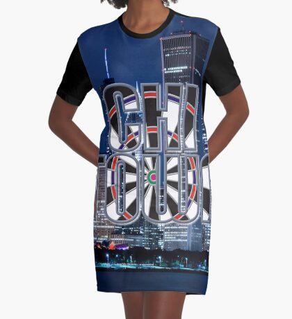 Darts Chicago Graphic T-Shirt Dress