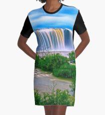 Waterfall Graphic T-Shirt Dress