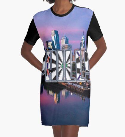 Darts Philadelphia Graphic T-Shirt Dress