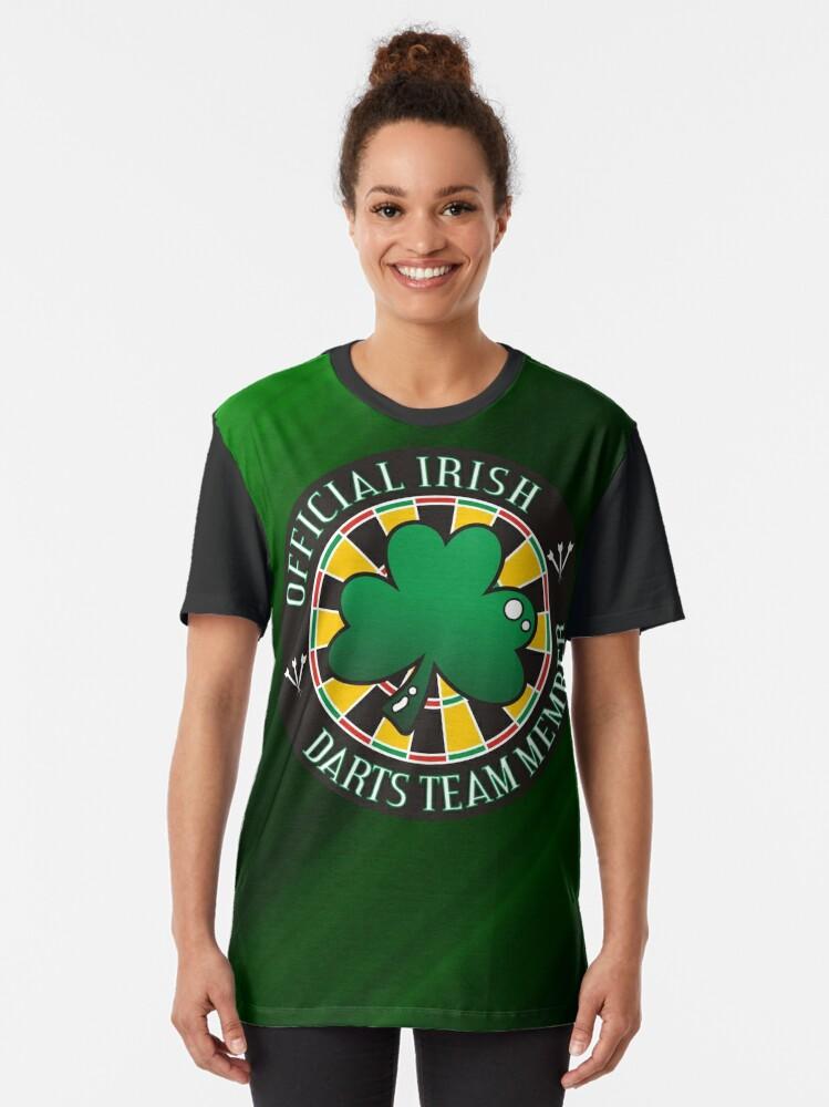 Alternate view of Official Irish Darts Team Member Graphic T-Shirt