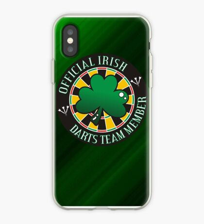 Official Irish Darts Team Member iPhone Case