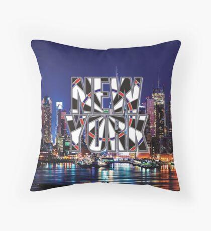 Darts New York Throw Pillow