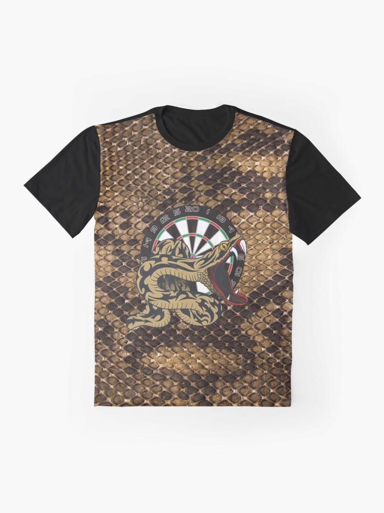 Alternate view of Intimidarters Snakeskin Darts Shirt Graphic T-Shirt