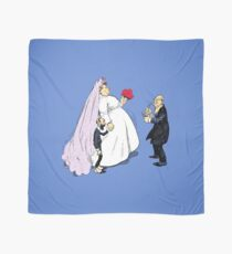 Fancy Bride And Groom At Wedding Scarf