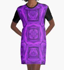 Leaving The Matrix | Fractal Art Graphic T-Shirt Dress