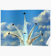 Aerial Acrobatics by the Blue Angels Poster