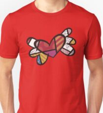 Romero Britto Winged Heart Unisex T-Shirt