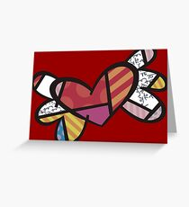 Romero Britto Winged Heart Greeting Card