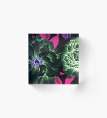 Ethereal Floral Acrylic Block