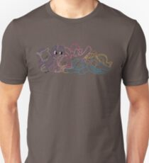 Sleepy Ponies Outlined T-Shirt