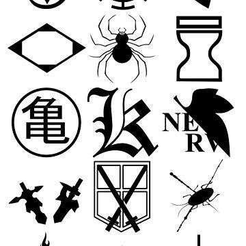 Anime Logos 2_Black by Yari27