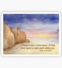 A Fresh Start- Psalm 51:10 Sticker