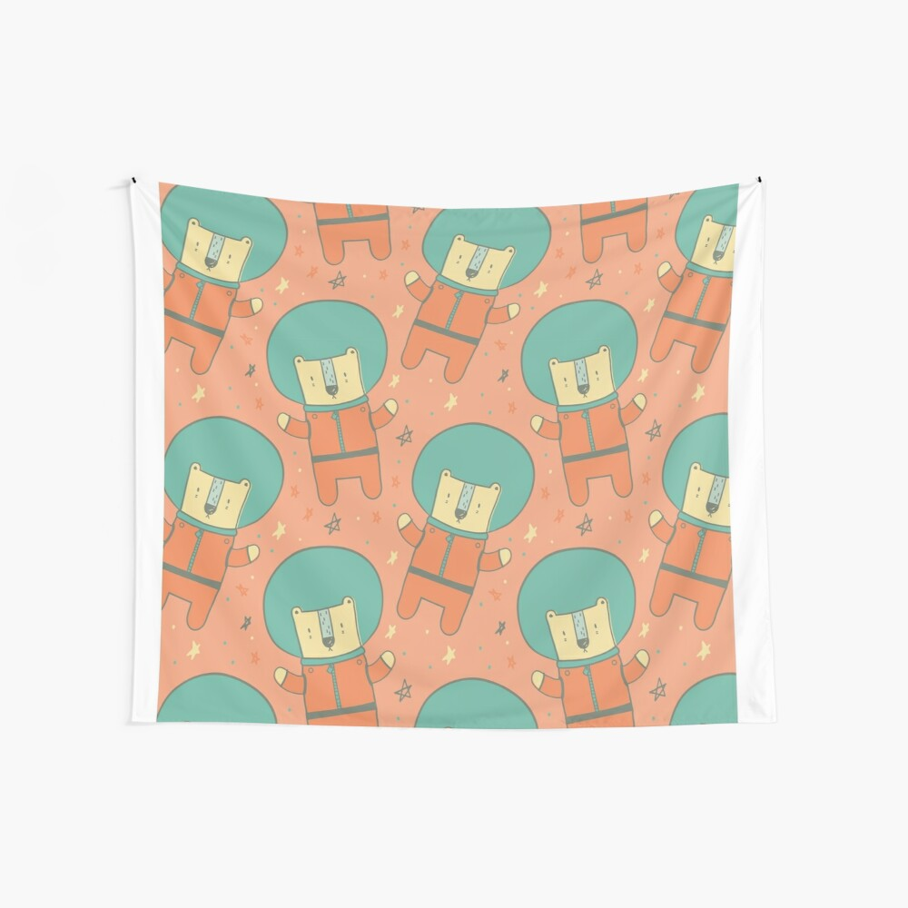 Bearly There in Dreamsickle  Wall Tapestry