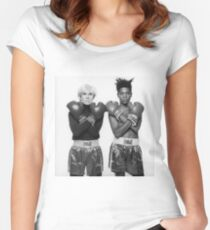warhol & basquiat Women's Fitted Scoop T-Shirt