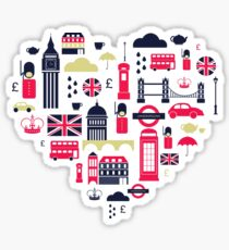 London Heart Sticker