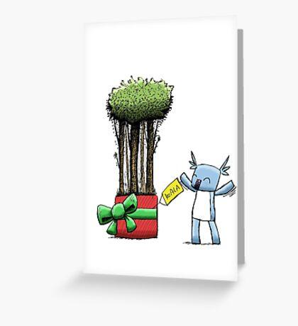 Tree Gift for Koala Greeting Card