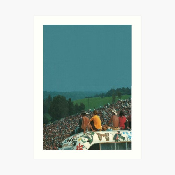woodstock crowd Art Print
