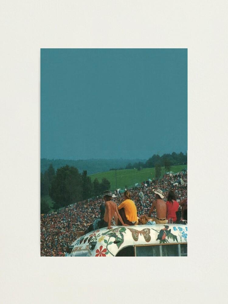Alternate view of woodstock crowd Photographic Print