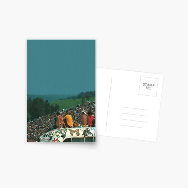 woodstock crowd Postcard